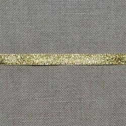 Ruban lamé doré 6mm