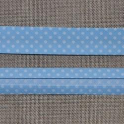 Biais bleu ciel à pois blancs Frou-Frou 20mm
