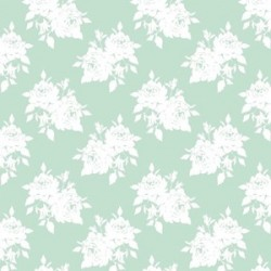 White Rose Teal - coupon 50x70cm - tissu Tilda