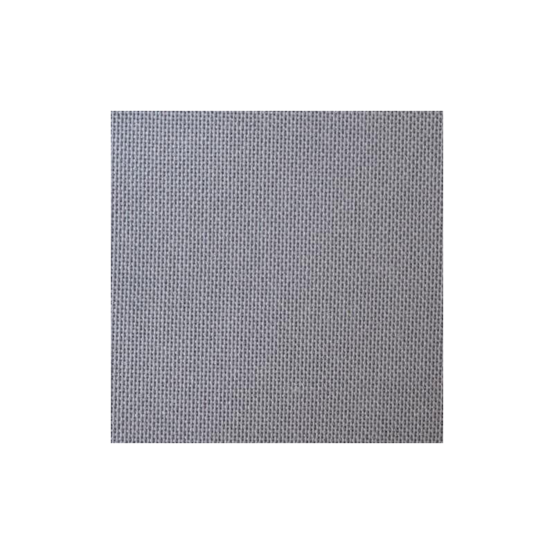 Toile Lugana Zweigart 10fils/cm 35x45cm gris foncé