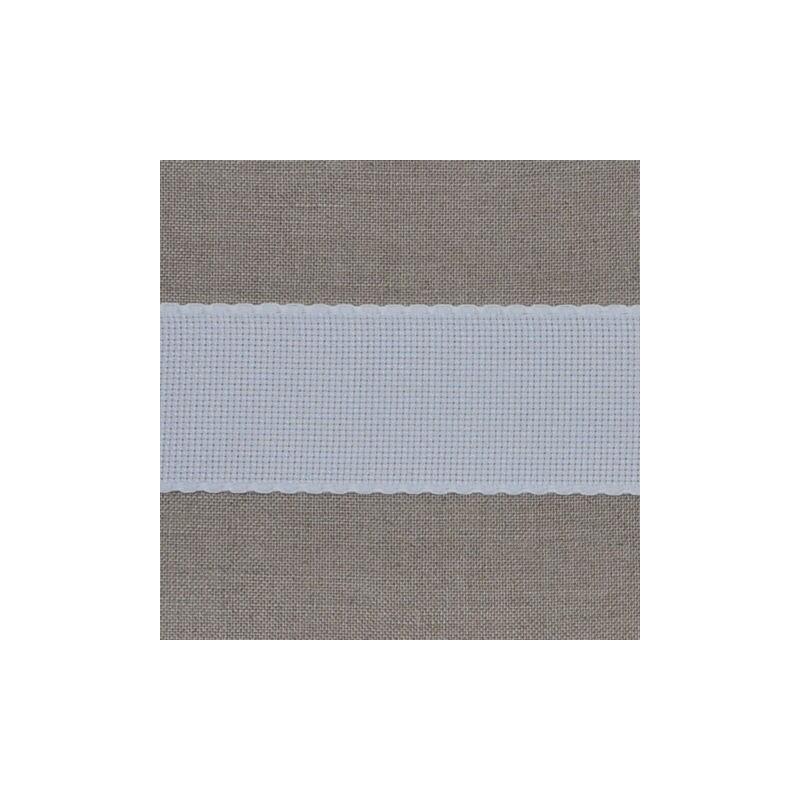 Galon aïda 6 points/cm largeur 5,5cm bords blancs