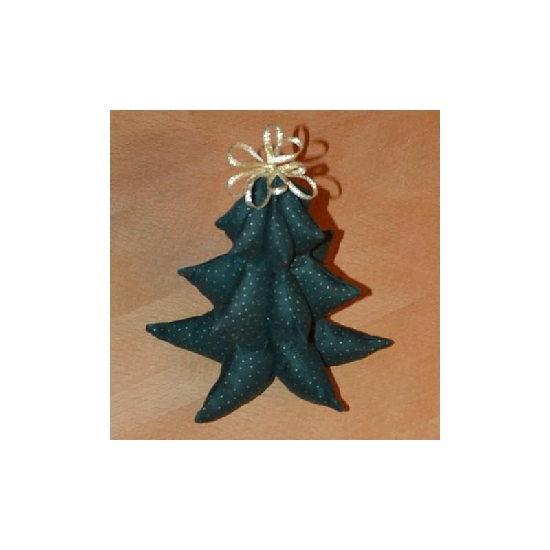 Sapin de Noël à poser - Patron et explications de montage