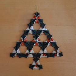 Sapin de Noël origami - Patron et explications de montage