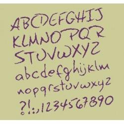 Alphabet à broder - Lilipoints - Livrable sous 10 jours