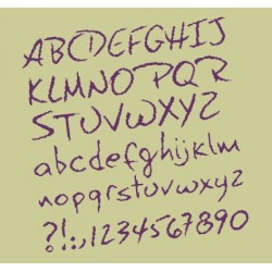 Alphabet à broder - Lilipoints