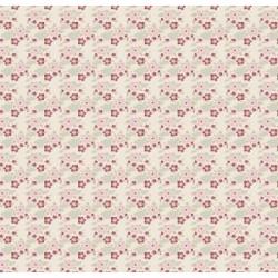 Zoe White - coupon 50x110cm - tissu Tilda