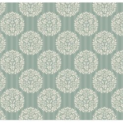 Flower Ball Teal - coupon 50x55cm - tissu Tilda - Livrable à partir de mi-février 2015