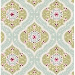 Aurora Teal - coupon 50x55cm - tissu Tilda - Livrable à partir de mi-février 2015
