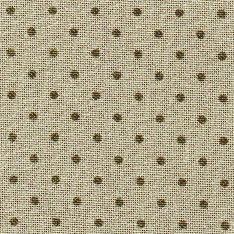 Toile Murano Zweigart 12,6fils/cm 35x45cm - lin à petits pois taupe foncé