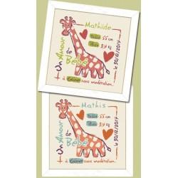 La girafe - Lilipoints - Livrable sous 10 jours