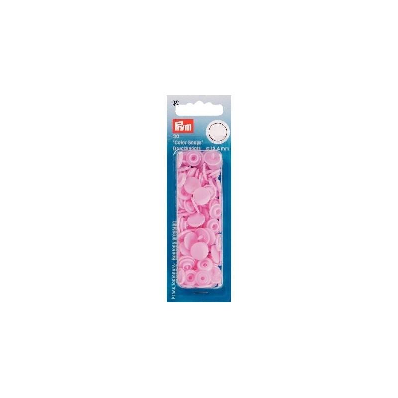 Boutons pression résine - rond - rose - Color Snaps Prym