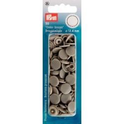 Boutons pression résine - rond - gris - Color Snaps Prym