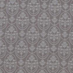 Bird Ornament Grey - coupon 50x70cm - tissu Tilda