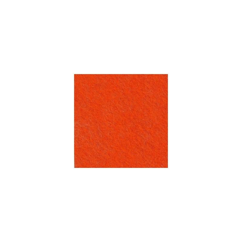 Feutrine de laine 22x30cm - orange vif - The Cinnamon Patch