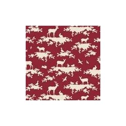 Forest Carmine Red - coupon 50x55cm - tissu Tilda