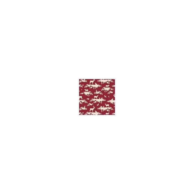 Forest Carmine Red - coupon 50x55cm - tissu Tilda