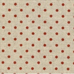 Lin Zweigart Belfast 12,6fils/cm 35x45cm naturel à petits points rouge bordeaux