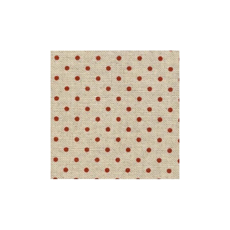 Lin Zweigart Belfast 12,6fils/cm 48x70cm naturel à petits points rouge bordeaux