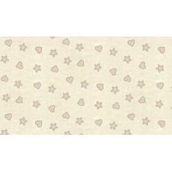 Tissu Scandi II - Hearts and Stars - Makower