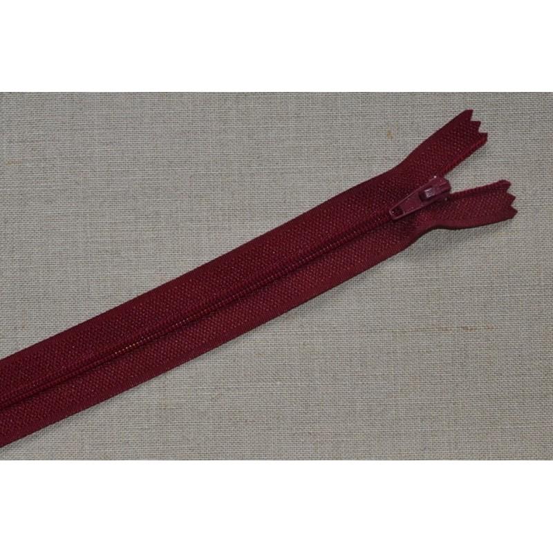 Fermeture à glissière nylon 20cm - bordeaux clair