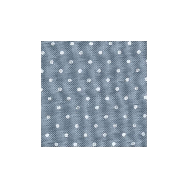 Lin Zweigart Belfast 12,6fils/cm 48x70cm bleu à petits points blancs