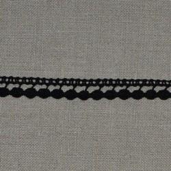 Dentelle fantaisie - noir - 100% coton - 10mm