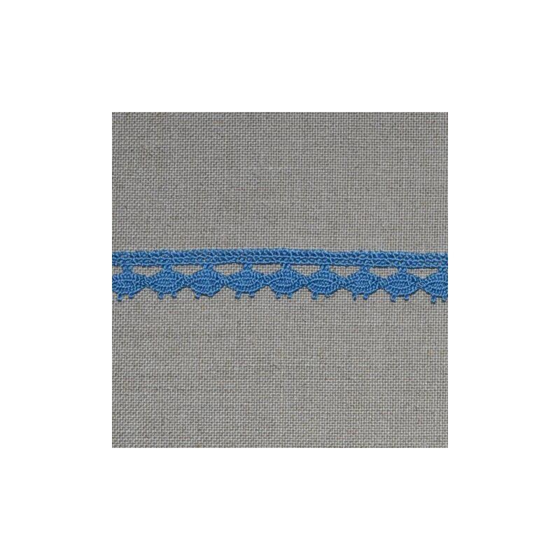 Dentelle fantaisie - bleu - 100% coton - 13mm