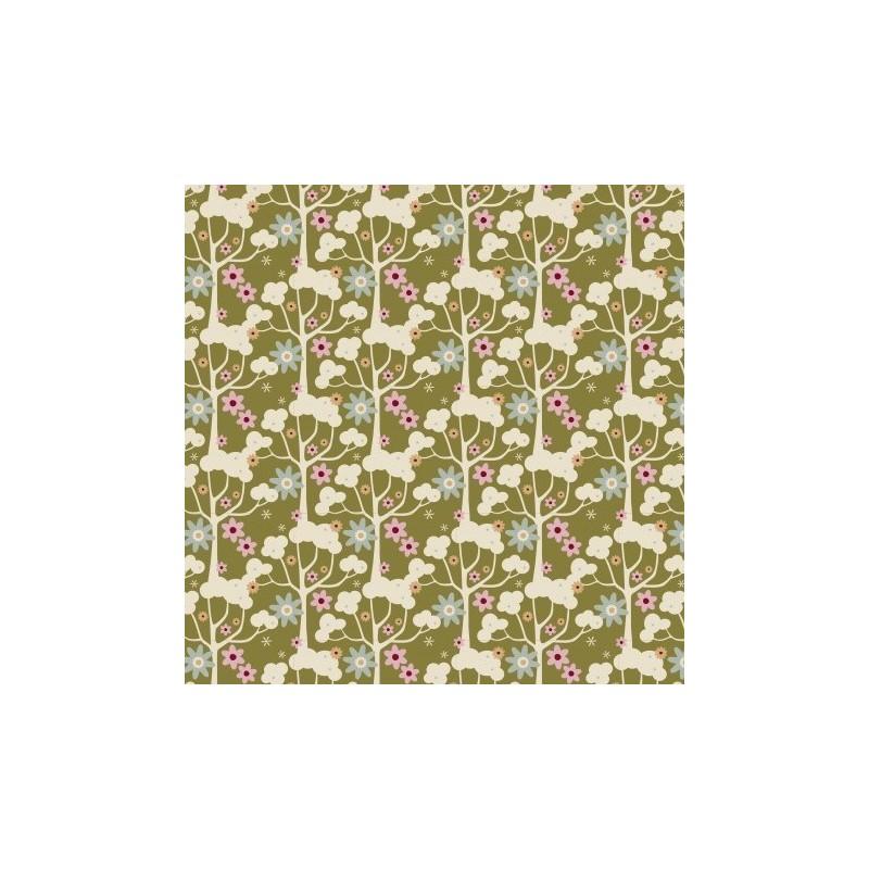 Wildgarden Green - coupon 50x55cm - tissu Tilda