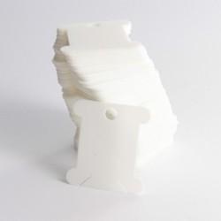 Cartonnettes pour fils à broder - plastique - 100