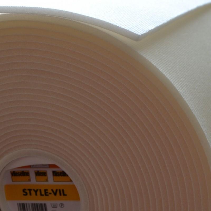 Style Vil - triplure mousse - blanc - laize 72cm
