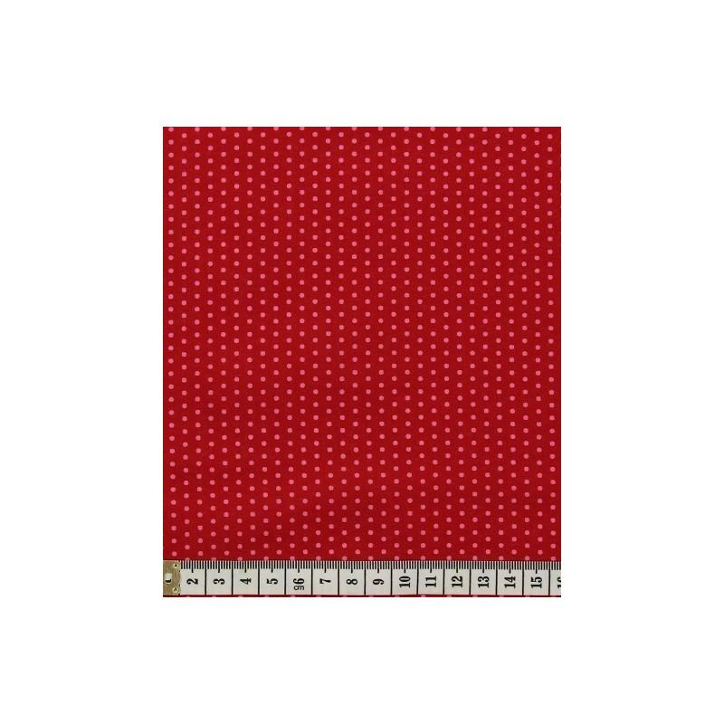 Tissu pois rubis éclatant - Frou-frou - laize 150cm