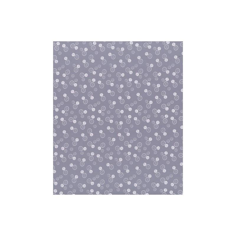 Tissu étoiles prune délicate - Frou-frou - laize 150cm