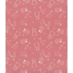 Tissu I love couture rose poudré - Frou-frou - laize 150cm