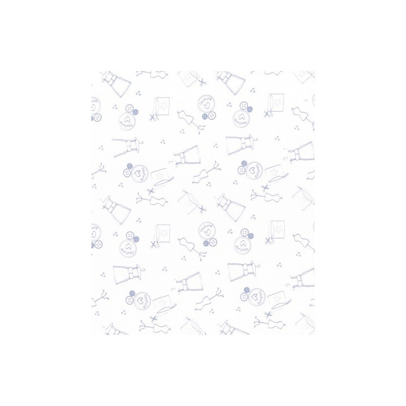 Tissu I love couture ballerine - Frou-frou - laize 150cm