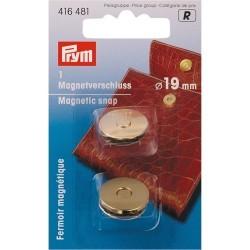 Fermoir magnétique 19mm - or