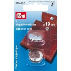 Fermoir magnétique 19mm - argent