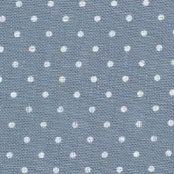 Lin Zweigart Belfast 12,6 fils/cm laize 140cm - bleu à petits points blancs