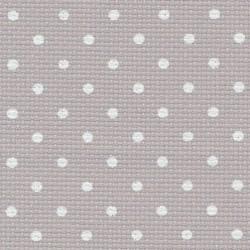 Aïda Zweigart 7pts/cm - largeur 110cm - lin clair à petits points blancs