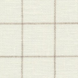 Lin Zweigart Belfast  Carré 12,6fils/cm - 35x45cm - ivoire à carreaux lin