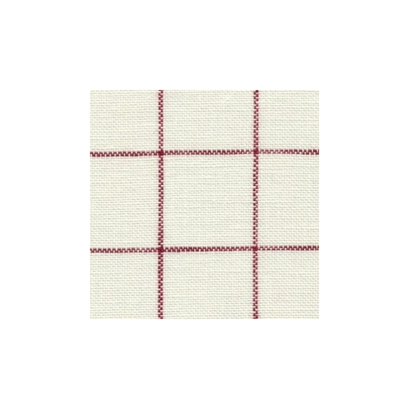 Lin Zweigart Belfast  Carré 12,6fils/cm - 35x45cm - blanc à carreaux rouge