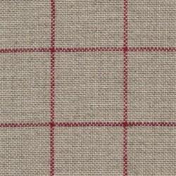 Lin Zweigart Belfast  Carré 12,6fils/cm - 35x45cm - lin à carreaux rouge