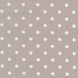 Toile Aïda Zweigart 8pts/cm - largeur 110cm - beige à petits points blancs