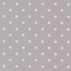 Toile Aïda Zweigart 8fils/cm - largeur 110cm - gris à petits points blancs