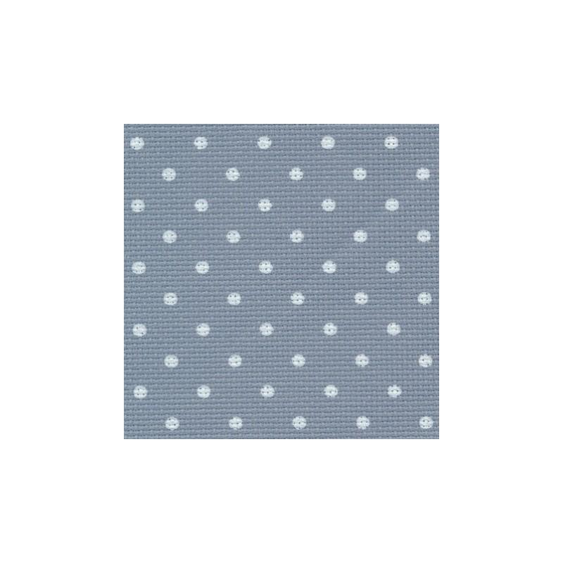 Aïda Zweigart 8pts/cm - largeur 110cm - bleu à petits points blancs