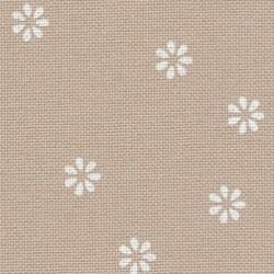 Toile Murano Zweigart 12,6fils/cm - 50x70cm - lin clair à fleurs blanches
