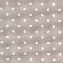 Toile Aïda Zweigart 8fils/cm - 50x55cm - beige à petits points blancs