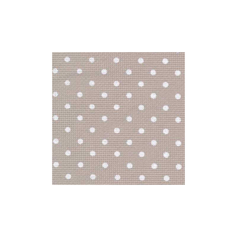 Aïda Zweigart 8pts/cm - 50x55cm - beige à petits points blancs