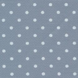 Aïda Zweigart 8pts/cm - 50x55cm - bleu à petits points blancs