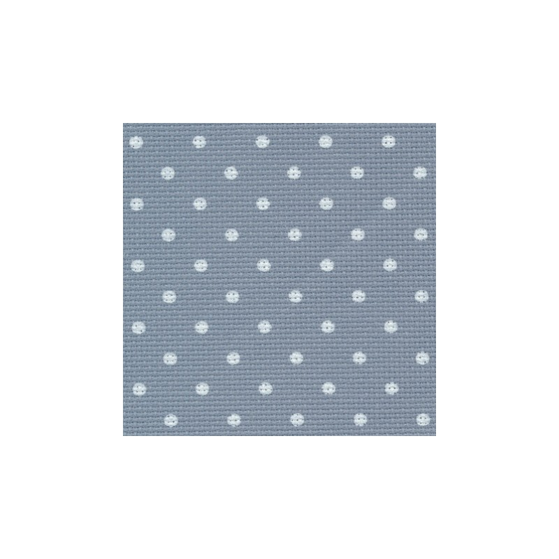 Aïda Zweigart 8pts/cm 50x55cm - bleu à petits points blancs