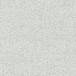 Toile Murano Zweigart 12,6fils/cm - largeur 140cm - blanc pailleté irisé